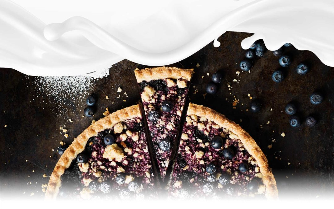 BLUEBERRY CREAM PIE WITH CEREAL CRUST