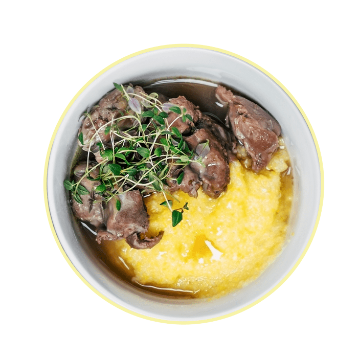 CREAMY POLENTA WITH CHIANTI BEEF
